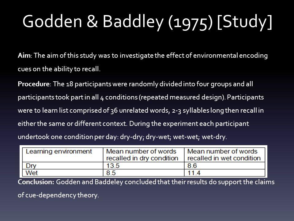 Godden & Baddley (1975) [Study]